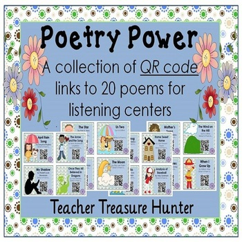 QR Code Cards ~ 20 Poems for listening centers - with anim