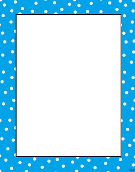 20 Polka Dot Frames for Commerical/Personal Use