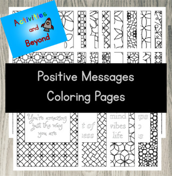 20 Positive Message Coloring Pages Quotes Tessellation Geometric Designs