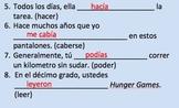 20 Preterite vs Imperfect Sentences--Completion practice