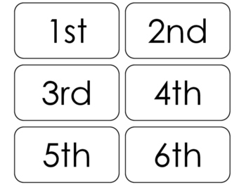 picture relating to Printable Number Flash Cards titled 20 Printable Ordinal Figures Flashcards. Positional Math Text.
