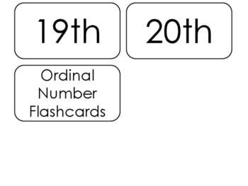 20 Printable Ordinal Numbers Flashcards. Positional Math Words.