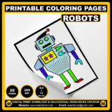 20 Printable ROBOTS Coloring Pages