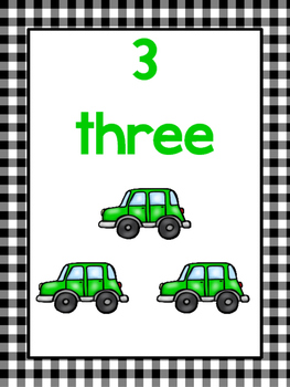 20 Printable Number Counting Posters. Numbers 1-20. Preschool Posters.
