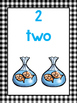 20 Printable Number Counting Posters. Numbers 1-20. Presch