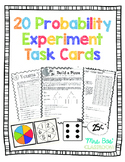 20 Probability Experiment Task Cards