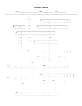 20 Question Harry Potter Prisoner of Azkaban Crossword with Key