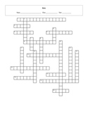 20 Question Life: Birds Crossword with Key