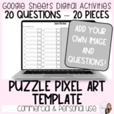 20 Question Puzzle Pixel Art Template for Commercial and P
