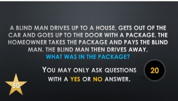 20 Questions Blind Man Driving