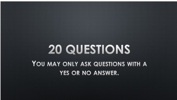 20 Questions - Dead in a Forest