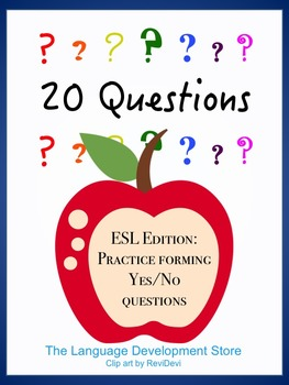 20 Questions - ESL Edition - Yes/No Questions