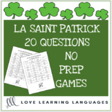 20 Questions French Game - La Saint Patrick - St. Patrick's Day Game - Printable
