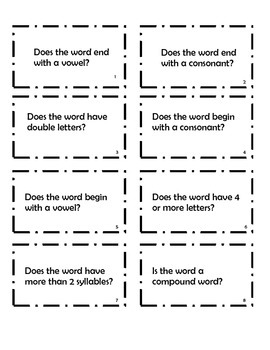 20 Questions for Word Study Practice