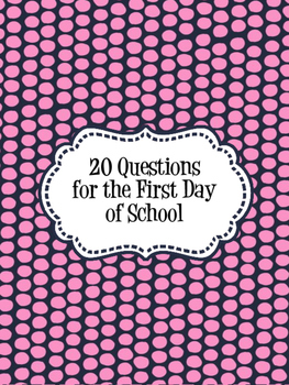 20 Questions for the Beginning of the Year