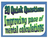 20 Quick Questions No. 6 -   Basic Algebra