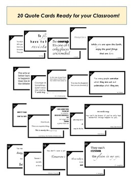 20 Quote Cards to Get Your Students Thinking!