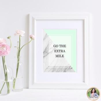 Quote Posters {Marble Minimalist: Blush, Mint, & Rose Gold}