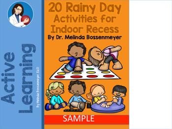 20 Rainy Day Activities for Indoor Recess & PE  SAMPLE