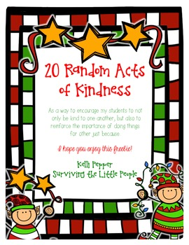 20 Random Acts of Kindness for the Classroom