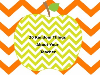 20 Random Things About Your Teacher