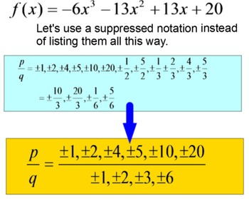 Rational Zero's Theorem 4 Lessons and Multiple Assignments for PDF