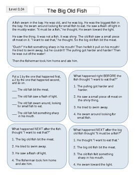 20 Reading Passages for practicing sequence/order of events