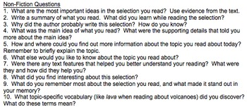20 Reading  Questions
