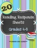 20 Reading Response Activities: Grades 4-8