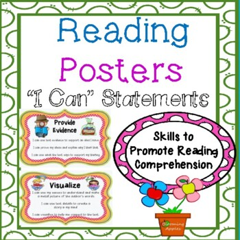 20  Reading Strategy Posters with Pictures and Written in