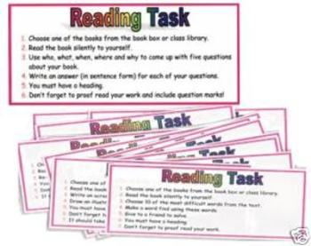 20 Reading Task Cards