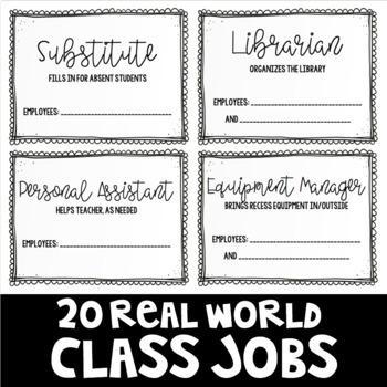 20 Real World Class Jobs
