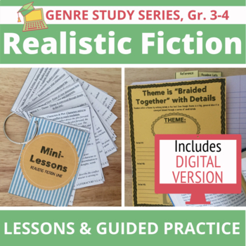 20 Realistic Fiction Mini Lessons, Anchor Charts & Reading Prompts, Grades 3-4