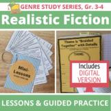 20 Realistic Fiction Mini Lessons, Anchor Charts & Reading Prompts, Grades 3-4