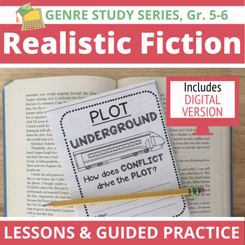 20 Realistic Fiction Mini Lessons, Anchor Charts, Reading Prompts & Extensions