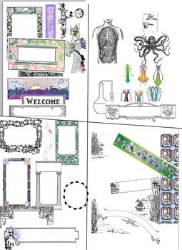 20 Floral Borders Plus a Bonus Surpise Package of 40+ Othe
