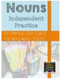 20 Rigorous Noun Task Cards for Word Work Centers or Small