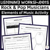 20 Rock and Pop Music Listening Activities