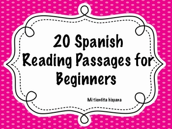 20 SPANISH READING PASSAGES FOR BEGINNERS