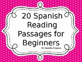 **EDITABLE** 20 SPANISH READING PASSAGES FOR BEGINNERS