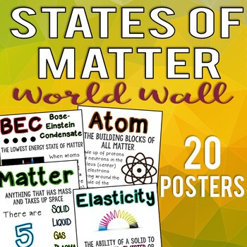 20 Science Posters: 5 States of Matter