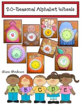 20 Seasonal Alphabet Wheels