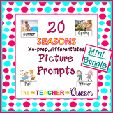 20 Seasons No-prep, Differentiated Picture Prompts for Wri