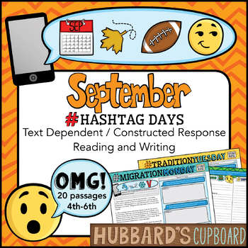 20 Reading Passages for September / Google Docs / Text Dependent / Text Evidence