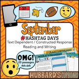 20 September Reading Passages - September Writing Prompts - September Activities