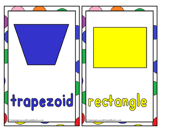 20 Shapes Flashcards and Coloring Cards