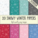 20 Snowy Winter Papers
