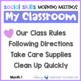 20 Social Skills Morning Meetings UNIT 1  Distance Learning Paperless or Print