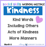 20 Social Skills Morning Meetings UNIT 6  Distance Learning Paperless or Print