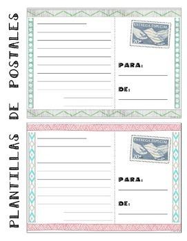40 Spanish/English Postcard Templates